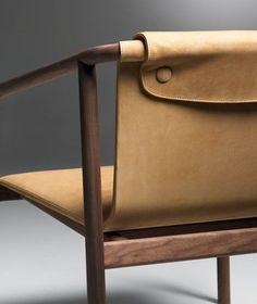 Oslo by Angell Wyller Aarseth for Bernhardt Design leather furniture details Furniture Decor, Modern Furniture, Furniture Design, Plywood Furniture, Luxury Furniture, Futuristic Furniture, Furniture Stores, Furniture Makeover, Vintage Furniture