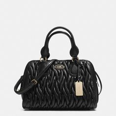 The Small Satchel In Gathered Leather from Coach