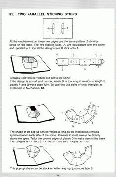 Pop up! a manual of paper mechanisms - duncan birmingham (tarquin books) [popup, papercraft, paper engineering, movable bo. Pop Up Art, Arte Pop Up, Origami And Kirigami, Origami Paper Art, Origami Templates, Box Templates, Pop Up Christmas Cards, Tarjetas Pop Up, Paper Engineering