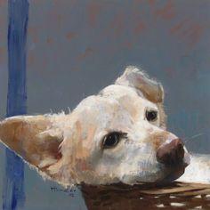 Robby - Pieter Pander, 2002 Dutch, b.1962- Oil on canvas, 36 x 36 cm.