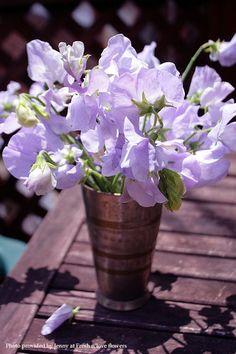 Love bouquets of Sweet Peas