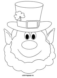 Leprechaun Coloring Page #2 | Cartoon, Activities and Free