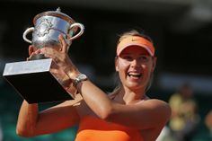 Maria Sharapova tops Simona Halep in three sets to win French Open - THE WASHINGTON POST #MariaSharapova, #FrenchOpen