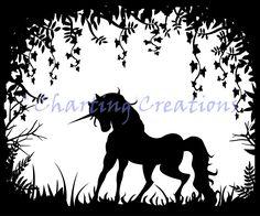 Resultado de imagem para unicorn silhouette