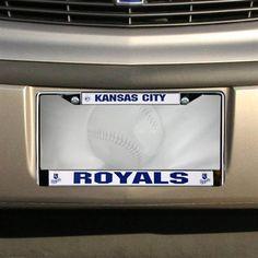 Kansas City Royals Chrome License Plate Frame
