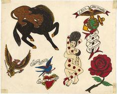 Tattoo Museum, Ankle Tattoo Small, Tiny Tattoo, Small Tattoos, Traditional Tattoo Flash, Vintage Flash, Literary Tattoos, Triangle Tattoos, Classic Tattoo