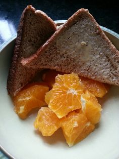 Slimming World breakfast  orange and bread