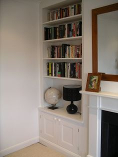 Portfolio - The Alcove Man - Edwardian Alcove shelves