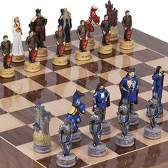 King Arthur the Legend of Camelot Chessmen  Columbus Avenue Chess Board from Spain *** Click image for more details.