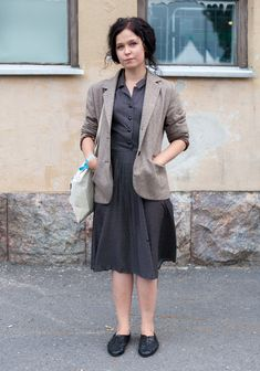 """Jennamari, 22, """"I usually wear a dress, like today. I like classic femininity. Today I dressed up for the Dalindèo gig. Old movies, the 30s and the 60s inspire me.""""  - Hel Looks - Street Style from Helsinki"""