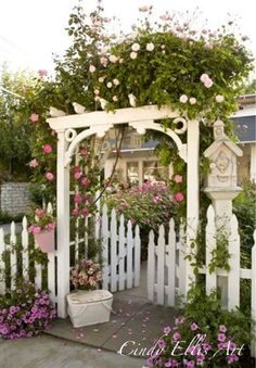 Rose arbor I want this!! To access the house or in the back as an entrance to the garden or pool area