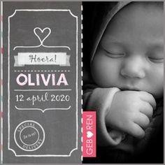 Kaartmix Geboortekaartjes meisje baby roze foto birth announcement girl geboortekaartje lief geboortekaarten babykaart photo crayon krijt