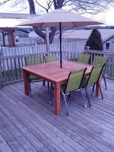 Simple square cedar outdoor dining table do it yourself home cedar patio table do it yourself home projects from ana white solutioingenieria Images