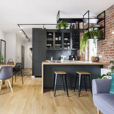 Kitchen Bar Design, Interior Design Kitchen, Black Kitchens, Home Kitchens, New Kitchen, Kitchen Decor, Big Bathrooms, Beautiful Kitchens, Sweet Home