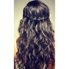 waterfall hair Hairstyles and Beauty Tips found on Polyvore