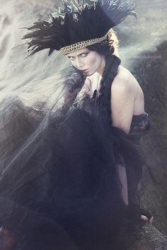 Dark as the Night by Emily Soto - Fashion Photography - Bird Concept Ideas - Raven