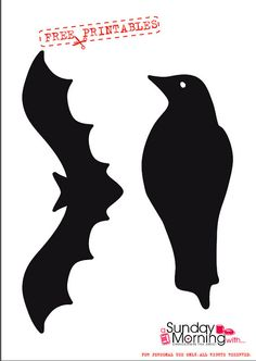 halloween free printables  pipistrello corvo