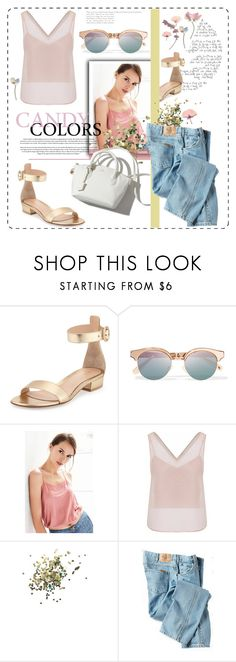 """""""Fairy Dust"""" by bombaysapphire ❤ liked on Polyvore featuring Gianvito Rossi, Le Specs, Truly Madly Deeply, WtR London, Topshop, Dickies, pastel, personalstyle, polyvoreeditorial and PolyvoreTrendReport"""