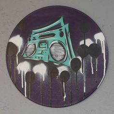 boombox graffiti on a vinyl