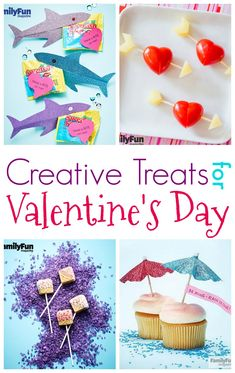 Creative Treats for Valentine's Day. Great crafts for the kids!