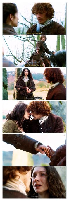"""How can I go back?"" - Claire and Jamie #Outlander [[ This is gonna hurt :( ]]"