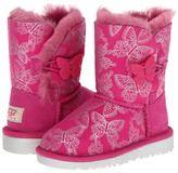 UGG Kids - Bailey Button Butterfly (Toddler/Little Kid) (Raspberry Sorbet) - Footwear