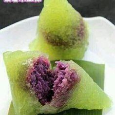 紫薯水晶粽的做法_【图解】紫薯水晶粽怎么做好吃_紫薯水晶粽_家常做法大全_豆果美食'