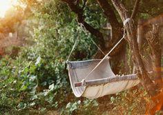 a hammock in a quiet bit of the garden