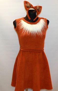 Adult fox costume /Fox Costume / Fox dress up /Fox women costume/ handmade costume / Halloween costume - Kids costumes Fox Costume Womens, Original Costumes, Girl Costumes, Costumes For Women, Fox Fancy Dress, Fox Halloween Costume, Diy Fox Costume, Party Fashion, The Dress