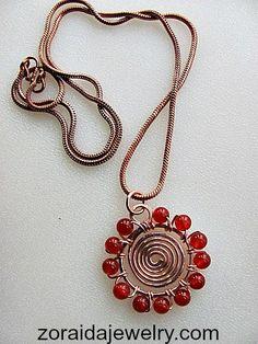 DIY Wire Spiral Bead Necklace Tutorial