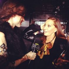 Had a lovely chat with Donna Karen after DKNY about her collection and Haiti (she's going back soon).