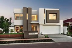 House facade gallery contemporary facades home decor modern clic exterior design apartment best linear images on Residential Architecture, Contemporary Architecture, Interior Architecture, Contemporary Homes, Amazing Architecture, Modern Exterior, Exterior Design, Luxury Homes Dream Houses, Home Luxury