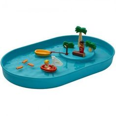 Shop Plan Toys Water Play Set at Babipur. Children love to play and experiment with water and this all natural set allows them to immerse themselves in a mini water world. Mini Pool, Water Tray, Fine Motor Skills Development, Plan Toys, Sand Pit, Rubber Tree, Eco Friendly Toys, Wood Tree, Bath Toys