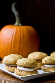 Pumpkin Whoopie Pies with Cream Cheese Filling - Vegetarian & Vegan Recipes