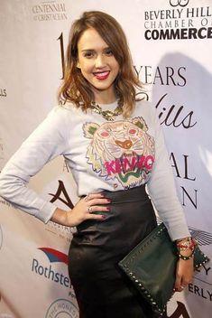 Jessica Alba in Kenzo Fashion Mode, Fashion Beauty, Fashion Outfits, Jessica Alba, Sweat Shirt, Zadig, Style Casual, Fashion Essentials, Closets
