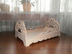 Кукольная кроватка 415. Заготовка для декупажа и росписи.