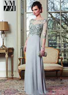 VM 71010 - Silver Beaded Mother of the Bride Dresses - RissyRoos.com
