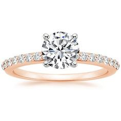 14K Rose Gold Petite Shared Prong Diamond Ring (1/4 ct. tw.) Simple and elegant. One day :)