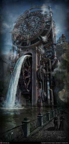 "Clock Hourglass Time:  ""The #Time Machine,"" by Dmitriy Filippov."
