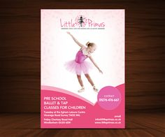 Flyer Design for little primas pre school dance classes by Thesign