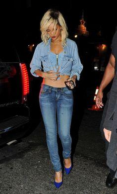Google Image Result for http://fashiontrendseeker.com/wp-content/uploads/2012/03/Celebrity-Style-Rihanna-Wears-Denim-on-Denim-Trend.jpg