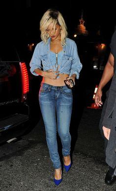Google Image Result for http://fashiontrendseeker.com/wp-content/uploads/2012/03/Celebrity-Style-Rihanna-Wears-Denim-on-Denim-Trend.jpg