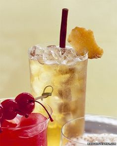 Apple-Ginger Sparklers - non-alcoholic… baby shower?