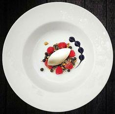 Vanilla ice cream quenelle • berries • chocolate / cognac sauce • cantucinni • by @micheldergaspard #food #foodie #foodporn #foodgasm #foodgram #foodphotography #foodism #raspberry #chocolate #icecream #pastry #berries #goodfood #goodlife #chef #pastrychef #gourmet #art #artonaplate #sweet #dessert #sweettooth #fancy #instafood #cake #vanilla #baking #cognac #fruit #patisserie