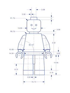 Lego man art print lego minifigure typical blueprint technical dessin technique personnage lego malvernweather Choice Image