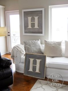 Oversized Initial Letter on Canvas