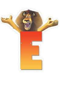 Lion letter E. Childrens Alphabet, Cute Alphabet, Letter E Craft, Madagascar Party, Movie Theater Rooms, Jungle Party, Teaching Aids, Carnival Birthday, Craft Party