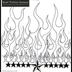 Nautical Star and Fire And Flame Tattoo Design Cloud Tattoo Sleeve, Sleeve Tattoos, Biker Tattoos, Skull Tattoos, Tatoos, Nautical Star Tattoos, Glitter Tattoo Stencils, Apple Tattoo, Skull Fire