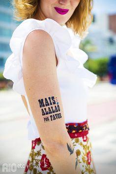 Mais um Carnaval de brilho e tattoos temporárias no Rio de Janeiro ;)