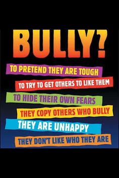 6 Great Posters on Bullying ~ Educational Technology and Mobile Learning Free resource of educational web tools, century skills, tips and tutorials on how teachers and students integrate technology into education Stop Cyber Bullying, Anti Bullying Activities, Anti Bullying Lessons, Adult Bullies, Bullying Quotes, Stop Bullying Posters, Cyber Bullying Poster, Bullying Prevention, School